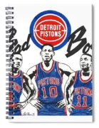 Detroit Bad Boys Pistons Spiral Notebook