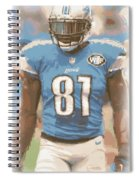 Detroit Lions Calvin Johnson 1 Spiral Notebook