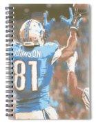 Detroit Lions Calvin Johnson 2 Spiral Notebook