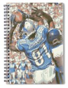 Detroit Lions Calvin Johnson 3 Spiral Notebook