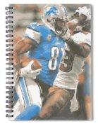 Detroit Lions Calvin Johnson 4 Spiral Notebook