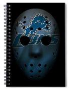 Detroit Lions War Mask 2 Spiral Notebook
