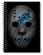 Detroit Lions War Mask 3 Spiral Notebook