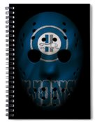 Detroit Lions War Mask Spiral Notebook