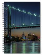 Detroit Riverside Sparkle Spiral Notebook