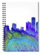 Detroit Skyline 3 Spiral Notebook