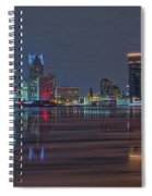 Detroit Skyline From Windsor In Hdr Spiral Notebook