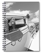Deuce Coupe At The Drive-in Black And White Spiral Notebook
