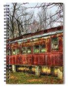 Devastation Railroad Passenger Train Car Fire Art Spiral Notebook