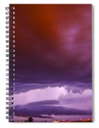 Developing Nebraska Night Shelf Cloud 003 Spiral Notebook