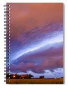 Developing Nebraska Night Shelf Cloud 006 Spiral Notebook
