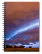 Developing Nebraska Night Shelf Cloud 007 Spiral Notebook