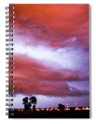 Developing Nebraska Night Shelf Cloud 009 Spiral Notebook