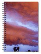 Developing Nebraska Night Shelf Cloud 011 Spiral Notebook