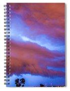 Developing Nebraska Night Shelf Cloud 012 Spiral Notebook