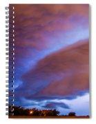 Developing Nebraska Night Shelf Cloud 013 Spiral Notebook