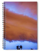 Developing Nebraska Night Shelf Cloud 016 Spiral Notebook