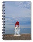 Devereux Beach Lifeguard Chair Info Board Marblehead Ma Spiral Notebook