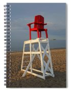 Devereux Beach Lifeguard Chair Marblehead Ma Spiral Notebook