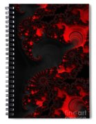 Devil Light   A Fractal Abstract Spiral Notebook