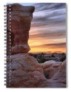 Devils Garden Sunset Spiral Notebook