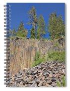 Devils Postpile Wide View 2 Spiral Notebook