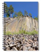 Devils Postpile Wide View Spiral Notebook