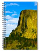 Devils Tower Spiral Notebook