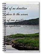 Devotion By Poet Robert Frost Spiral Notebook