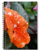 Dewy Pansy 2 - Side View Spiral Notebook