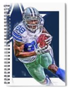 Dez Bryant Dallas Cowboys Oil Art Spiral Notebook