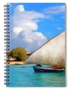 Dhow Off Zanzibar Spiral Notebook