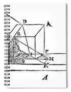 Diagram Showing Refraction, Kepler, 1611 Spiral Notebook