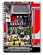 Dials And Hoses On Fire Truck Spiral Notebook