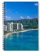 Diamond Head And Waikiki Spiral Notebook