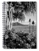 Diamond Head In Black And White Spiral Notebook