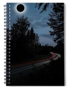 Diamond Ring Solar Eclips Over Route 66 By Adam Asar 3 Spiral Notebook