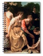 Diana And Her Companions Spiral Notebook