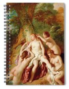 Diana And Her Nymphs Bathing Spiral Notebook
