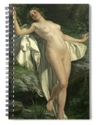 Diana At Her Bath Spiral Notebook