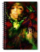 Dianas Blood Moon Spiral Notebook