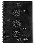 Dice Cube Patent Spiral Notebook