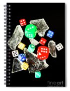 Dicing With Chance Spiral Notebook