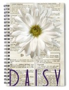 Dictionary Daisy Spiral Notebook