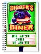 Digger's Diner Spiral Notebook