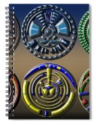 Digital Art Dials Spiral Notebook