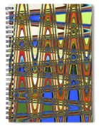 Digital Broad Paint Abstract Spiral Notebook