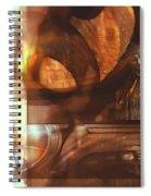 Digital Collage  Spiral Notebook