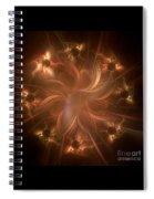 Digital Daisy Gold Spiral Notebook
