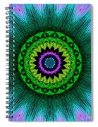 Digital Kaleidoscope Mandala 50 Spiral Notebook